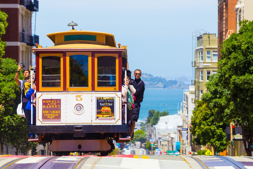 SF Trolley Car - fun, but not the recommended CiderCon transportation