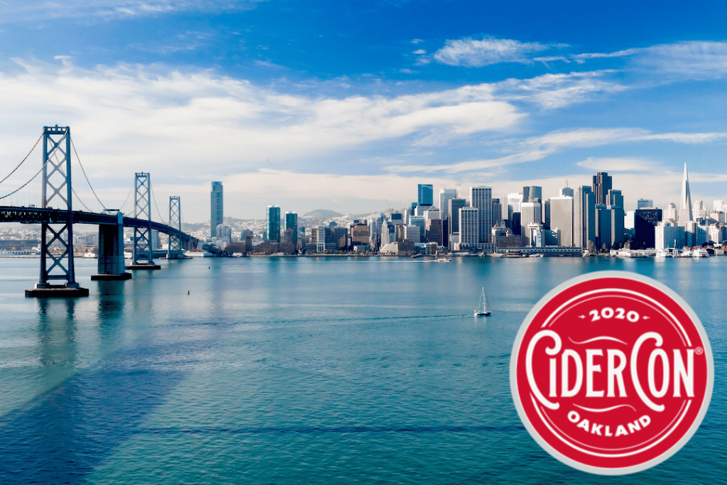 View of SF from CiderCon 2020 in Oakland