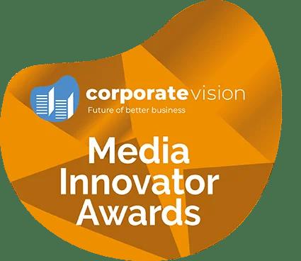corporate vision Media Innovator Awards logo