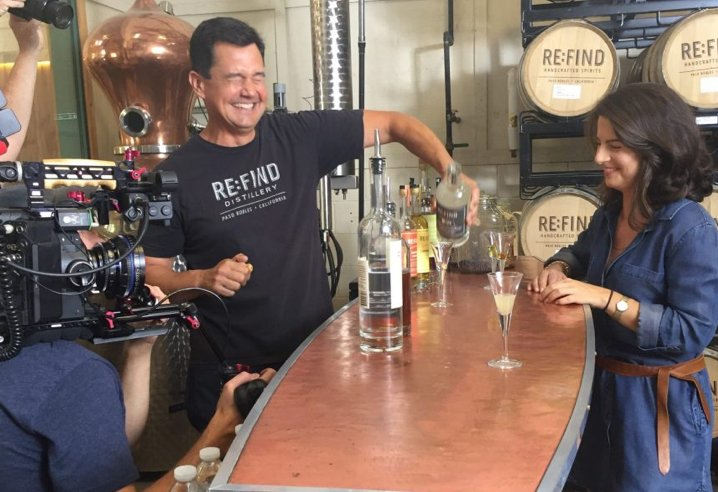 Founder Suzanne on video set at Refind